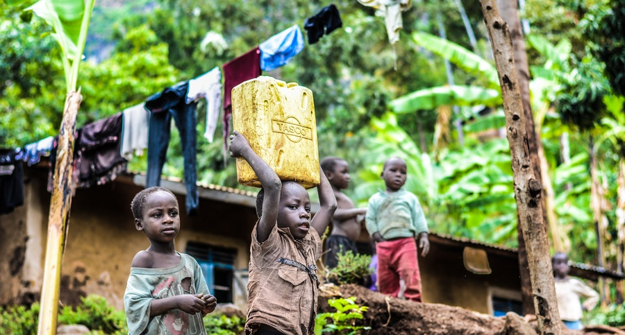 malnourished children in Sub-saharan Africa