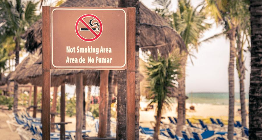 Discarded cigarette butt pollution