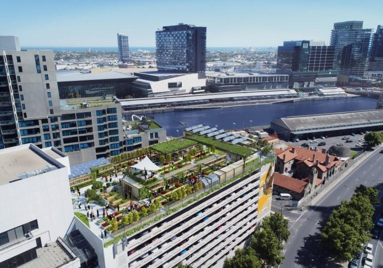 Green roofs help to make a sustainable city.
