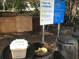 Compost from scraps help to make a sustainable city.