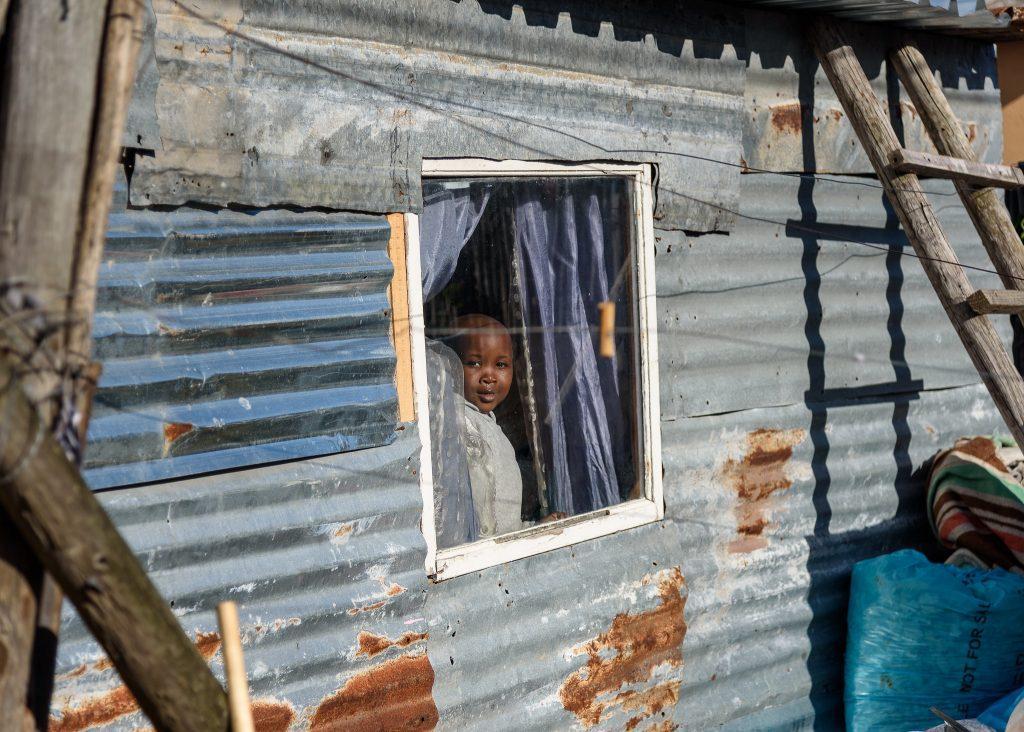 Child living in urban slum