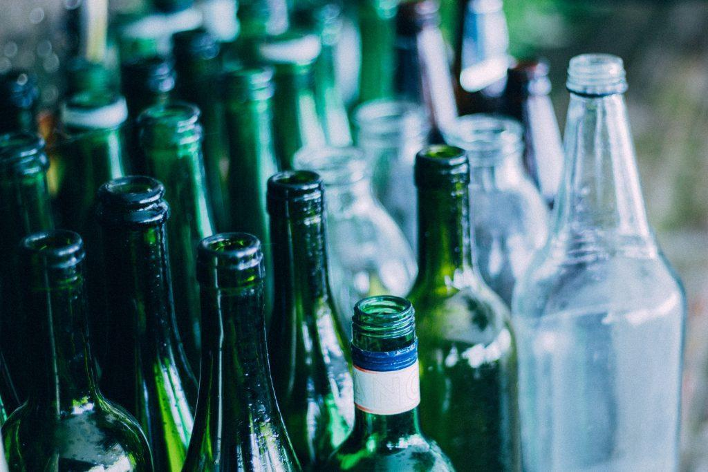 glass bottles that can be recycled via a container deposit scheme